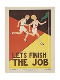 1938 Character Culture Citizenship Guide Poster, Let's Finish the Job Lámina giclée