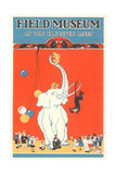Poster for Field Museum with Circus Elephant Giclée-tryk