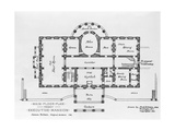 Floor Plan of the White House Giclee Print
