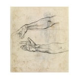 Study of Two Arms for 'The Drunkenness of Noah' in the Sistine Chapel Giclée-tryk af Michelangelo Buonarroti
