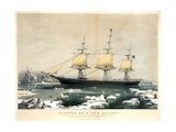 Clipper Ship Red Jacket Giclée-tryk af Currier & Ives,