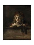 Titus Van Rijn, the Artist's Son, Reading Giclee Print by  Rembrandt van Rijn