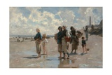 Fishing for Oysters at Cancale Giclee Print by John Singer Sargent