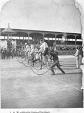 Starting Line of a Penny-Farthing Bicycle Race Fotoprint van George Barker