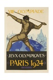 1924 Paris Summer Olymipcs Giclee Print