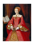 Elizabeth I as a Princess Attributed to William Scrots Giclee Print