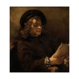Titus Van Rijn, the Artist's Son, Reading Giclee Print by  Rembrandt van Rijn