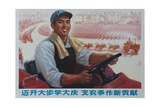 Learning Dai Qi by Making More Contributions! Chinese Cultural Revolution Giclee Print