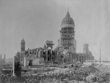 Ruins of San Francisco City Hall Photographic Print by A. Blumberg
