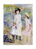 Children on the Seashore, Guernsey Giclee Print by Pierre-Auguste Renoir