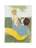 Under the Horse-Chestnut Tree Giclee Print by Mary Cassatt