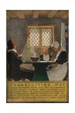 1920s American Banking Poster, Thanksgiving Day Giclee Print
