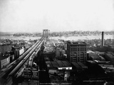 Brooklyn Bridge and Brooklyn from World Building Photographic Print by J.S. Johnston