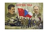 "Czech Propaganda Card ""May 1945"" Giclee Print"