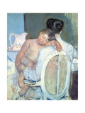 Woman Sitting with a Child in Her Arms Giclee Print by Mary Cassatt
