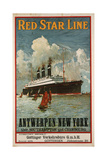 Red Star Line, Antwerpen-New York Poster Giclee Print