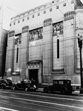 Facade of the Los Angeles Stock Exchange Papier Photo