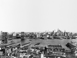 The East River, Brooklyn Bridge and Brooklyn Photographic Print by Irving Underhill