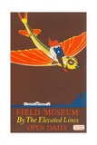 Poster for Field Museum with Children on Giant Koi Giclee Print