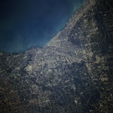 Cleveland from Orbit Photographic Print