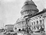 U. S. Capitol under Construction Photographic Print by A.J. Russel