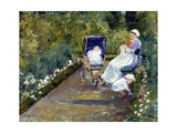 Children in a Garden (The Nurse) Giclee Print by Mary Cassatt