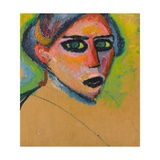 Woman's Face Giclee Print by Alexej Von Jawlensky