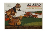 Az Aero Hungarian Aviation Magazine Poster Giclee Print