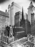Trinity Church and Surrounding Skyscrapers, New York Photographic Print