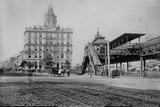 Elevated Train Station in New York Photographic Print by Charles Pollock