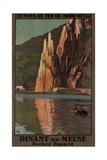 Belgian Travel Poster Dinant Sur Meuse Giclee Print