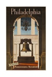 Pennsylvania Railroad Travel Poster, Philadelphia Go by Train Giclee Print