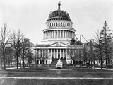 U. S. Capitol with Unfinished Dome Photographic Print