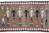 A Navajo Yei Rug Showing Nine Figures Photographic Print