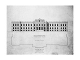 Sketch of Principal Front, Proposed Library Building Giclee Print by John Fraser