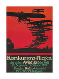 Early German Air Show Poster Gicleetryck