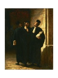 Three Lawyers Giclee Print by Honor' Daumier