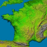 Topographic Image of France Photographic Print