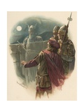 Hamlet Sees the King's Ghost Giclee Print by Harold Copping