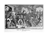 Riot in Philadelphia, June 7, 1844 Giclee Print by James Baillie