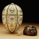 Faberge Kelch Bonbonniere Egg Pictured with its Surprises Photographic Print