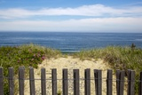 Fence and Sand Dunes on Coast Photographic Print by Paul Souders