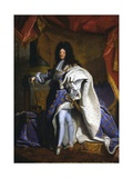 Louis XIV, King of France Giclee Print by Hyacinthe Rigaud