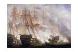 La battaglia di Trafalgar Stampa giclée di John Christian Schetky