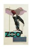 Buzzards, London Underground and Zoo Impression giclée