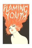 Flaming Youth, Woman with Flaming Hair Giclee Print
