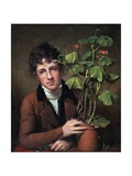 Rubens Peale with a Geranium Giclee Print by Rembrandt Peale
