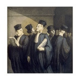 Avant l'Audience Giclee Print by Honor' Daumier