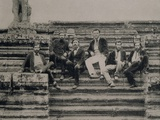 Portrait of Explorers at Angkor Wat, Vietnam, 1868 Photographic Print by Leonard de Selva