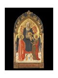Altarpiece with the Madonna and Child with Two Angels Giclee Print by  Fra Angelico